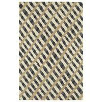 Hand-Tufted Artworks Grey Criss-Cross Rug - 8' x 10'