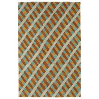 Hand-Tufted Artworks Multi Criss-Cross Rug (8'0 x 10'0)