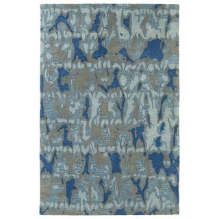 Hand-Tufted Artworks Blue Watercolor Rug (8' x 10')