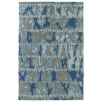 Hand-Tufted Artworks Blue Watercolor Rug - 8' x 10'