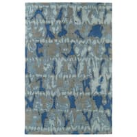 Hand-Tufted Artworks Blue Watercolor Rug - 9' x 12'