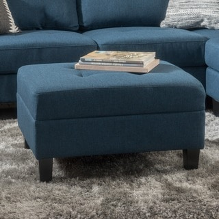 Zahra Tufted Fabric Ottoman by Christopher Knight Home