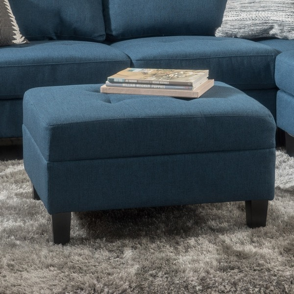Zahra Tufted Fabric Ottoman by Christopher Knight Home. Opens flyout.
