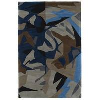 Hand-Tufted Artworks Multi Abstract Rug - 5' x 7'9