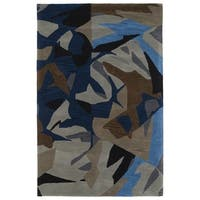Hand-Tufted Artworks Multi Abstract Rug - 9' x 12'