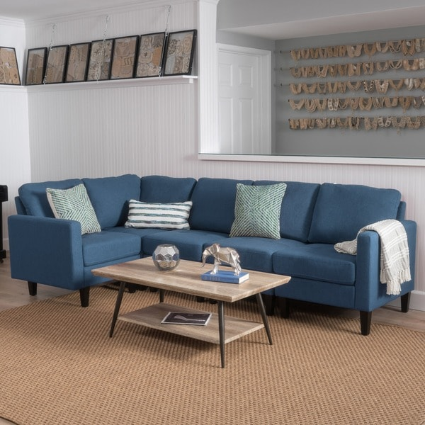 Zahra 5 Piece Fabric Sofa Sectional By Christopher Knight Home Free Shipping Today Overstock