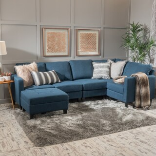 Zahra 6-piece Fabric Sofa Sectional with Ottoman by Christopher Knight Home (2 options available)