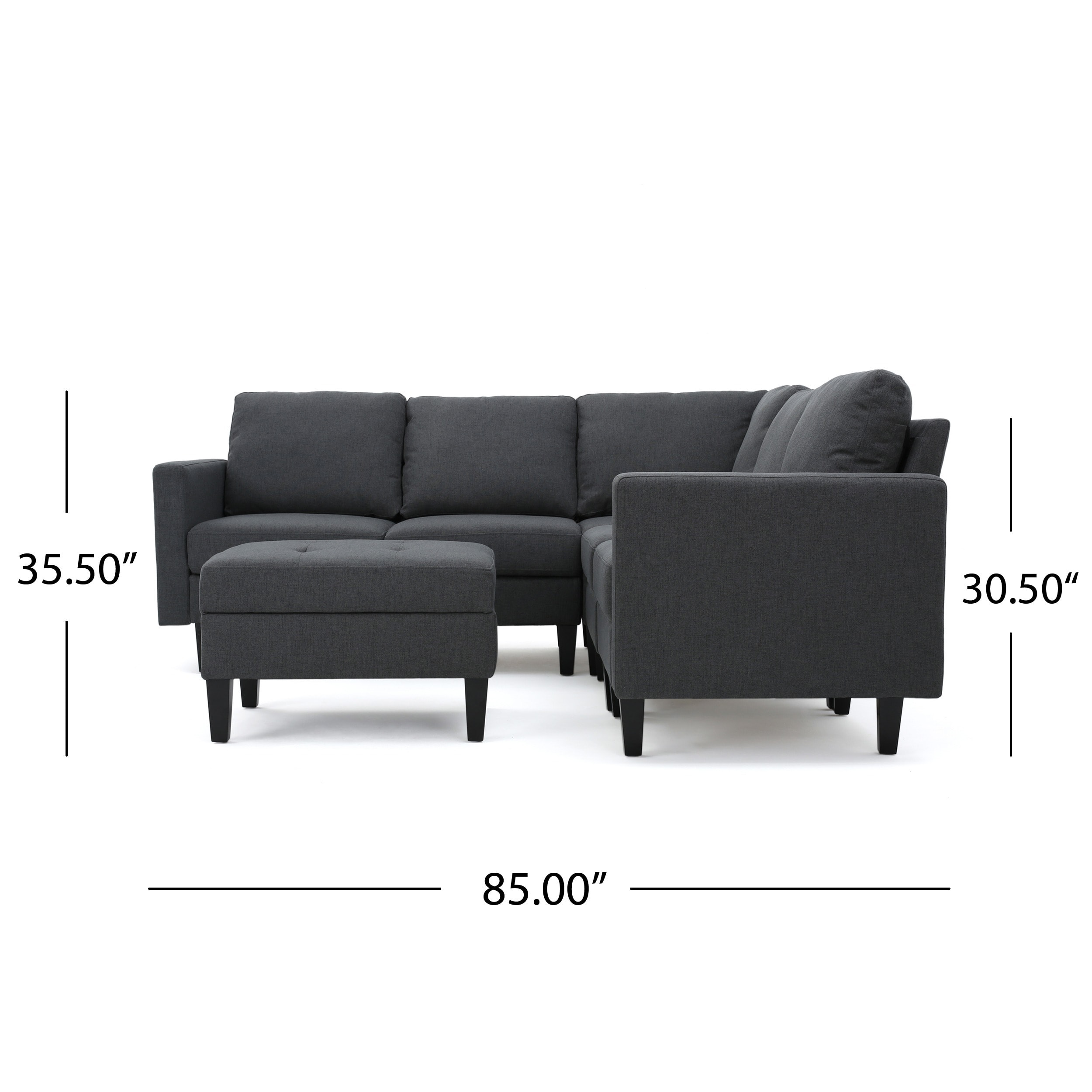 Tremendous Zahra 6 Piece Fabric Sofa Sectional With Ottoman By Christopher Knight Home Gmtry Best Dining Table And Chair Ideas Images Gmtryco