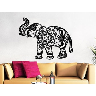 Indian Elephant Wall Decal Stickers Yoga Wall Decal Indie Wall Art Bedroom Dorm Sticker Decal size 2