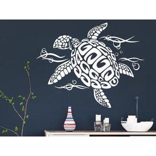Sea Turtle Wall Decal Ocean Sea Animals Decals Wall Vinyl Sticker Interior Home Sticker Decal size 3