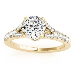 Transcendent Brilliance 14k Gold 1 1/4ct TDW White Diamond Graduated Split Shank Engagement Ring