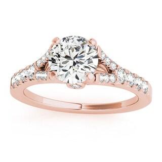 Transcendent Brilliance 14k Gold 7/8ct TDW White Diamond Graduated Split Shank Engagement Ring