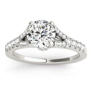 Transcendent Brilliance 14k Gold 1 2/5ct TDW White Diamond Graduated Split Shank Engagement Ring (F-G, VS1-VS2)