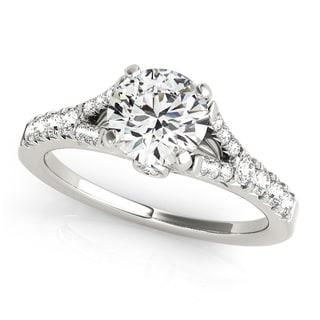 Transcendent Brilliance 14k Gold 1 5/8ct TDW White Diamond Graduated Split Shank Engagement Ring