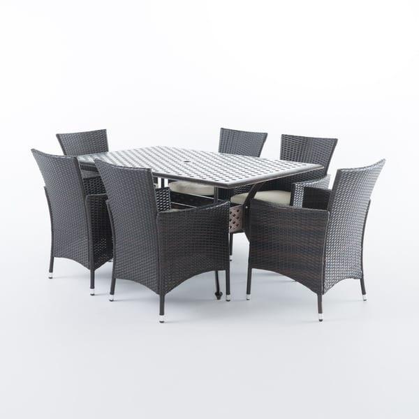 Outdoor 7 Piece Rectangle Cast Aluminum