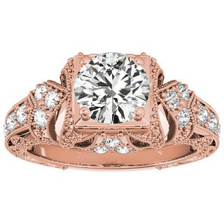 Transcendent Brilliance 14k Gold 1 1/10ct TDW White Diamond Vintage Style Engagement Ring (F-G, VS1-VS2)