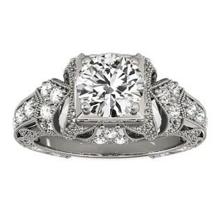 Transcendent Brilliance 14k Gold 3/4ct TDW White Diamond Vintage Style Engagement Ring