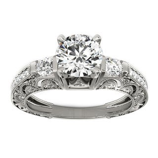 Transcendent Brilliance 14k Gold 1 1/3ct TDW White Diamond Antique Style Engagement Ring (F-G, VS1-VS2)