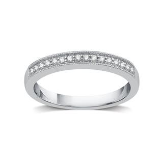 Platinum wedding rings for less overstock silver platinum alloy 18ct tdw white diamond wedding band white i j junglespirit Images