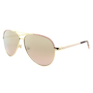 Kate Spade Women's KS Amarissa 04Z Gold Pink Metal Mirror Lens Aviator Sunglasses