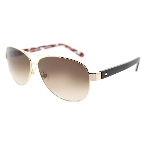 2b93707950 Shop Kate Spade KS Dalia2 3YG Gold Dots Metal Aviator Sunglasses ...
