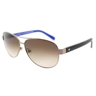 Kate Spade KS Dalia2 P40 Brown Metal Gradient-lens Aviator Sunglasses