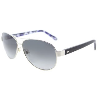 Kate Spade Dalia2 Silvertone Metal Aviator Sunglasses with Grey Gradient Lenses