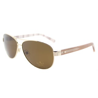 Kate Spade KS Dalia2/P RNE Gold Metal Aviator Sunglasses