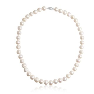 11MM Freshwater Cultured Pearl Necklace - Off White
