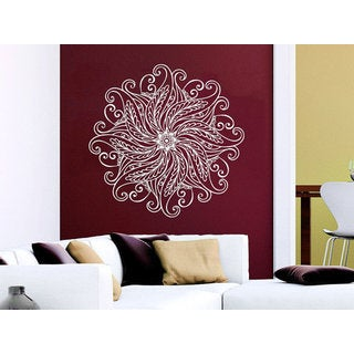 Mandala Wall Decal Yoga Studio Vinyl Sticker Decals Ornament Moroccan Pattern Namaste Sticker Decal