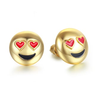 Smiling Face Eye Love You Emoji Earrings