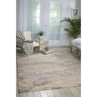 Nourison Divine Ash Grey Wool Geometric Area Rug - 8'6 x 11'6