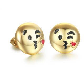 Blow A Kiss Emoji Earrings