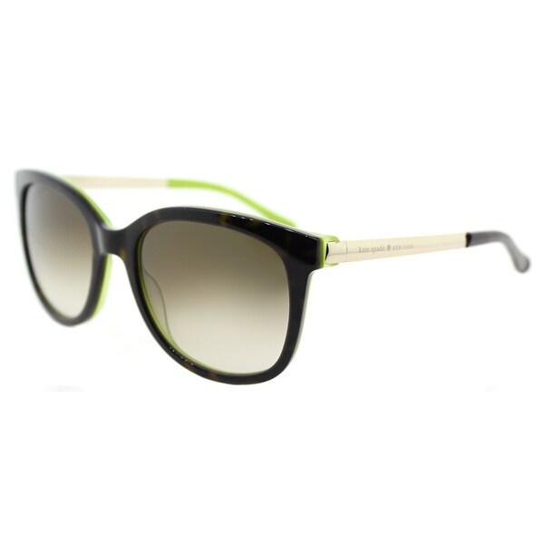 cd7d540b2b Shop Kate Spade KS Gayla DV2 Tortoise Kiwi  Brown Gradient Lens Plastic  Square Sunglasses - Free Shipping Today - Overstock - 14061428