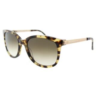 Kate Spade KS Gayla ESPP Carmel Tortoise Plastic Square Sunglasses with Brown Gradient Lens