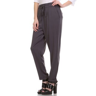 JED Women's Relaxed-fit Casual Pants With Elastic Waist and Cuffed Hem