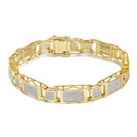 Unending Love 10k Gold Men's 1 5/8ct TDW Diamond Bracelet (I-J, I2-I3)