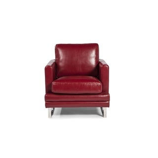 Melbourne Collection Red Leather Chair by Lazzaro Leather