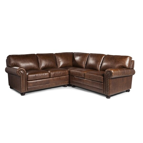 Genesis Cocoa Brompton Leather Sofa Sectional By Lazzaro