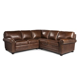 Genesis Cocoa Brompton Leather Sofa Sectional By Lazzaro Leather