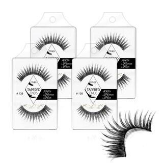 KASINA Human Hair Eyelash #138 (Pack of 4)