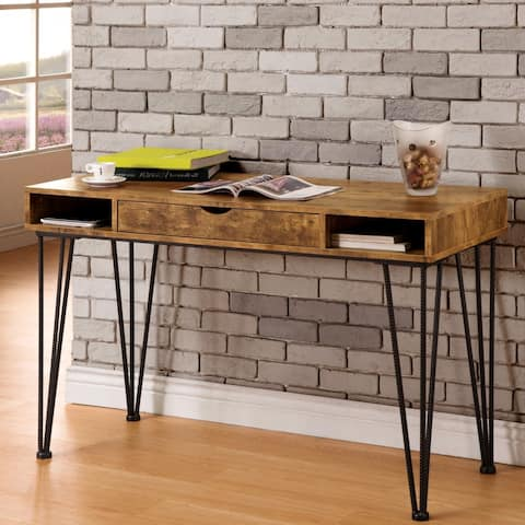 Mid-Century Industrial Rustic Design Home Office Computer Writing Desk