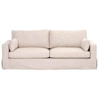 "Howard 89"" Sofa, Bisque French Linen"