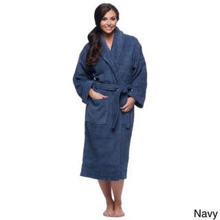 Salbakos Turkish Cotton Shawl Collar Ultra Thick Unisex Terry Bath Robe Small Size in Rose (As Is Item)