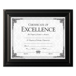 DAX High Gloss Frame, 8 1/2 x 11, Black Frame x 35 3/4, Black