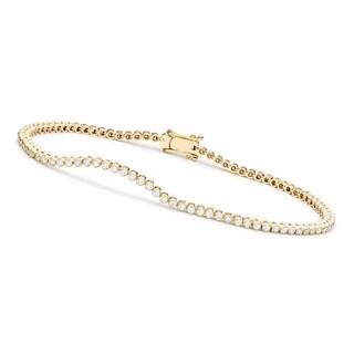 Collette Z Sterling Silver Cubic Zirconia Round Bezel-set Bracelet