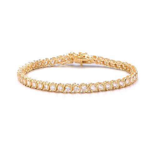 Collette Z Gold Overlay Cubic Zirconia Eternity Bracelet