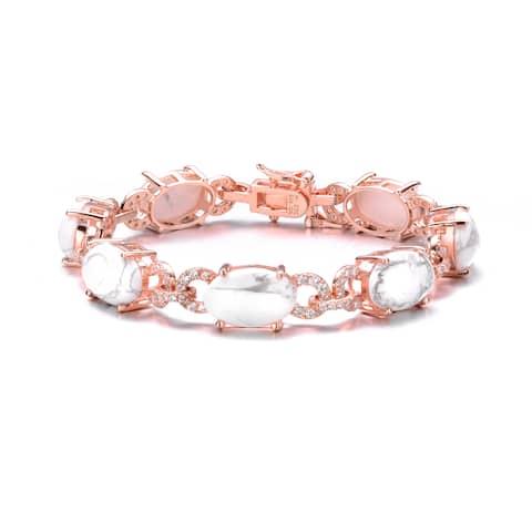 Collette Z Rose Gold Overlay How Lite Oval Bracelet