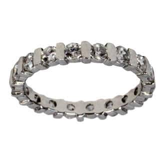 Women's Sterling Silver Cubic Zirconia Eternity Band
