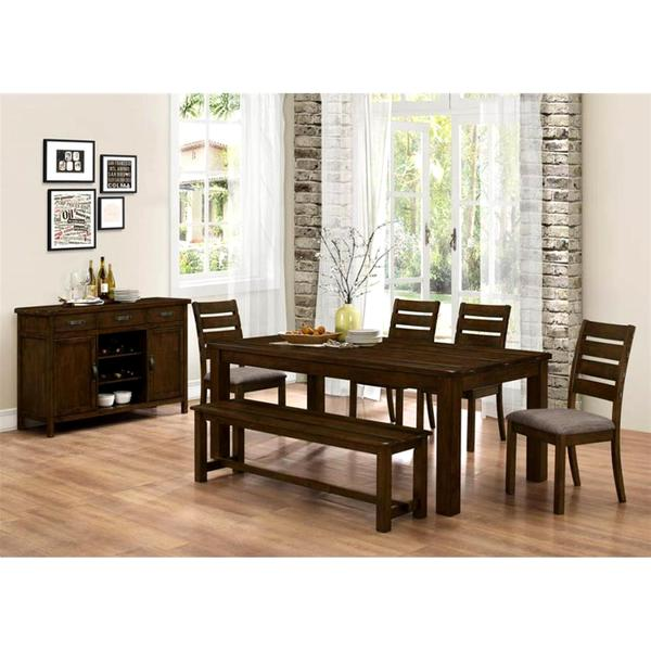 Dining Room Sets With Buffet: Shop Rustic Block Plank Design Casual 7-piece Dining Set